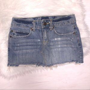 Aeropostale Distressed Jean Mini Skirt.